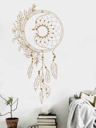 Creative Feather Wind Chime Pattern Wall Stickers Home Decor Vinyl Livingroom Mural Wall Decals Teens Rooms Art Wallpapers Lc661 Wall Stickers Aliexpress