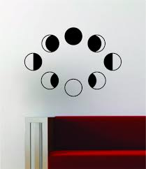 Moon Phases Wall Decal Sticker Art Vinyl Room Decor Decoration Space G Boop Decals