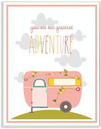 Amazon Com The Kids Room By Stupell You Are Our Greatest Adventure Art Wall Plaque Pink Gray 11 X 0 5 X 15 Proudly Made In Usa Baby