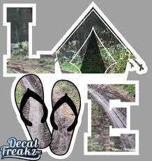 Trail Tent Love Decal Decal Freakz