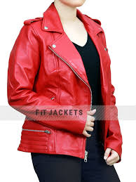 of serpents by wearing this hot red jacket