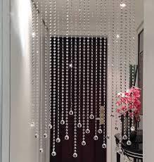 handmade clear crystal bead curtain