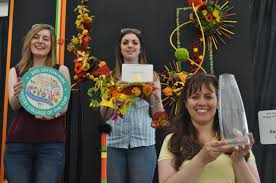 Floristry college winners Zoe Sillito, Anna Eite and Wendy ...