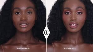 makeup look for dark skin tones using