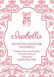 Invitaciones De Cumpleanos Personalizadas Bailarina 205 00 En