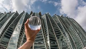 magical photography through a glass ball