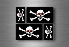 Automobilia 4x Sticker Flag Car Motorcycle Decal Bumper Vinyl Adhesive Pirate Bart Roberts Transportation Automobilia Collectibles