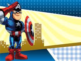 Capitan America Super Hero Squad Invitaciones De Cumpleanos