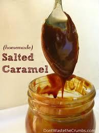 homemade salted caramel salted
