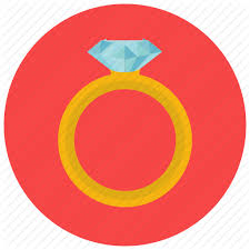 jewelry marriage rich ring wedding icon