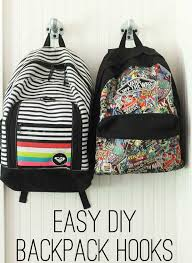 easy diy backpack hooks the shabby