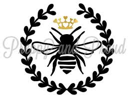 Queen Bee Decal Sticker Car Sticker Queen Bee Sticker Cooler Sticker Bee Decal Car Decal Laptop Sticker Queen Decal Bee Decals Bee Sticker Bee Drawing