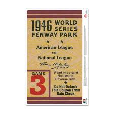 Mustang Products Boston Red Sox 1946 World Series Ticket Stub Wall Decal Wayfair