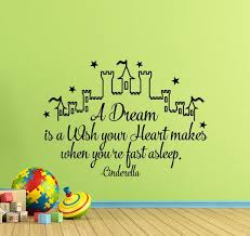 Cinderella Wall Decal Cinderella Quote A Dream Is A Wish Your Etsy