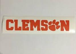Clemson Tigers Football Decal Sticker Car Truck Man Cave Ebay
