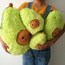 Best Seller Plush Avocado Pillow For Kids And Adults Home Room Decor Kjselections