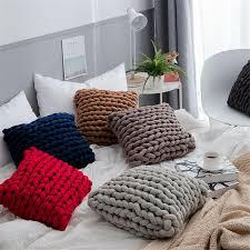 Handmade Braided Square Throw Pillow Back Cushion Ins For Sofa Kid Bedroom Decor Ebay