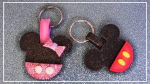 Llaveros De Mickey Mouse Y Minnie Mouse En Goma Eva Llavero De