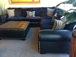 navy blue leather sectional sofa home