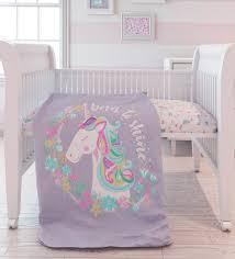unicorn 7pc organic baby bedding set