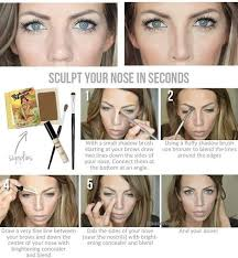 how to make nose appear smaller makeup