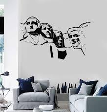 Amazon Com Wall Vinyl Decal Us Presidents Mount Rushmore National Memorial Decor Tt1558 Home Kitchen