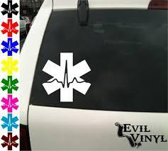 Emt Cardiac Vinyl Car Truck Window Decal Emergency Medical Snake Star Nurse Pride Love Paramedic Medic Iphone Samsung Case Sticker Any S Emt Paramedic Emt Gear
