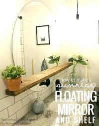 small bathroom wall mirrors round