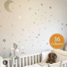 Moon And Star Decals Stars Wall Stickers Nursery Wall Etsy Nursery Wall Decals Star Wall Decals Kids Wall Decals