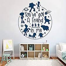 Amazon Com You Ve Got A Friend In Me Story Movie Inspired Wall Sticker Pattern Character Animal Wall Decal For Kids Room Decor 85x95cm Baby