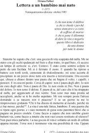 Oriana Fallaci Lettera a un bambino mai nato - PDF Free Download