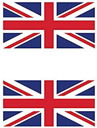 Amazon Com Two Pack Flag Of The United Kingdom British Sticker Fa Graphix Decal Uk Royal Union Jack Automotive