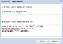 ads txt authorized digital sellers