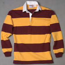 gold burdy rugby shirt number 8