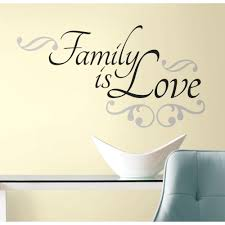 Roommates 10 In X 18 In Family Is Love 12 Piece Peel And Stick Wall Decals Rmk2120scs The Home Depot