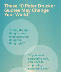 these peter drucker quotes change your world