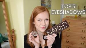 top 5 eyeshadows for redheads simply
