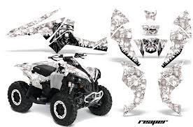 Reaper Can Am Renegade 500 800r 800x 1000 Atv Graphics White
