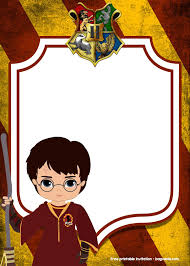 Free Printable Harry Potter Invitation Templates Invitaciones De