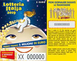 Lotteria Italia 2019: estrazione e biglietti vincenti 2019 ...