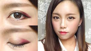 korean ulzzang style burgundy makeup