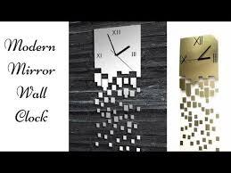 modern mirror wall clock recreation