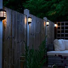Pack Of 4 Solar Powered Wall Fence Lights Freemans