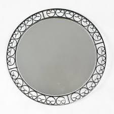 german metal round mirror 1960s en