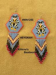 heyokah beaded earrings native