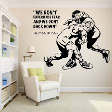Amazon Com Wrestling Wall Decal Wrestling Decals Wrestling Quotes Decals Wwe Wall Decals Vinyl Sticker Room Decal 185re Home Kitchen