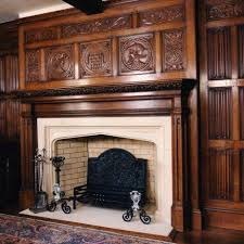 renaissance overmantle hand carved in