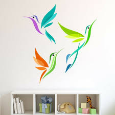 Style And Apply Colorful Abstract Birds Wall Decal Wayfair