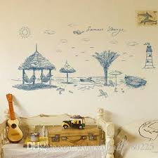 20190621 Removable Wall Stickers For Summer Beach Wall Decoration With Sofa Background Wall Decoration In Living Room Of Bedroom Cheap Wall Decal Cheap Wall Decals From Woaiwojia20180225 8 12 Dhgate Com