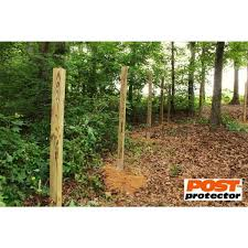 Post Protector 4 In X 4 In X 30 In In Ground Hdpe Fence Post Decay Protection 4430 The Home Depot